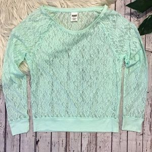 Victoria's Secret PINK lace long sleeve Small